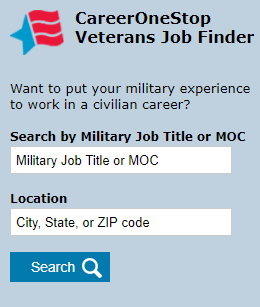 Military-To-Civilian Job Search Widget