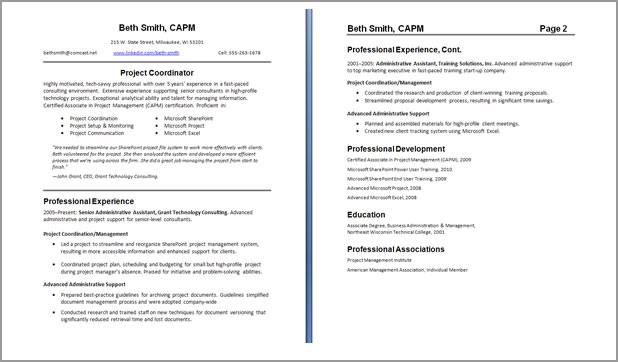 2 page resume samples - jianbochen.com