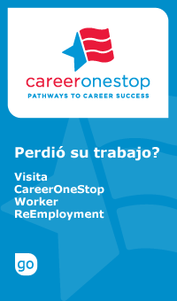 Click to download Spanish version of ReEmployment Benefits Logo
