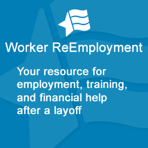 Worker ReEmployment Logo in English (300px x 300px)